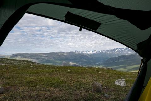 Blick aus dem Zelt am Morgen,©Markus Proske—Panasonic DMC-LX100, 24mm, 1/800s, Blende 5.6, ISO 200