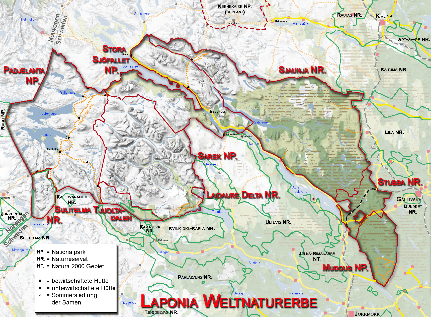 Weltnaturerbe Laponia (by Ökologix, Wikipedia, public domain)