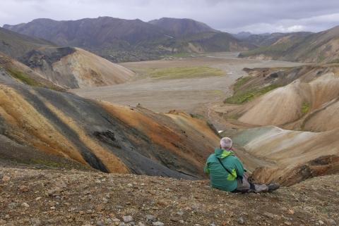 Aufstieg von Landmannalaugar in Richtung Skalli (making of),©Elisabeth Zenz—Panasonic DMC-LX100, 14.4mm, 1/200s, Blende 8, ISO 200