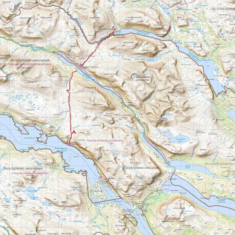 Kaitumjaure – Vakkotavare (Quelle: Lantmäteriet, Schweden)