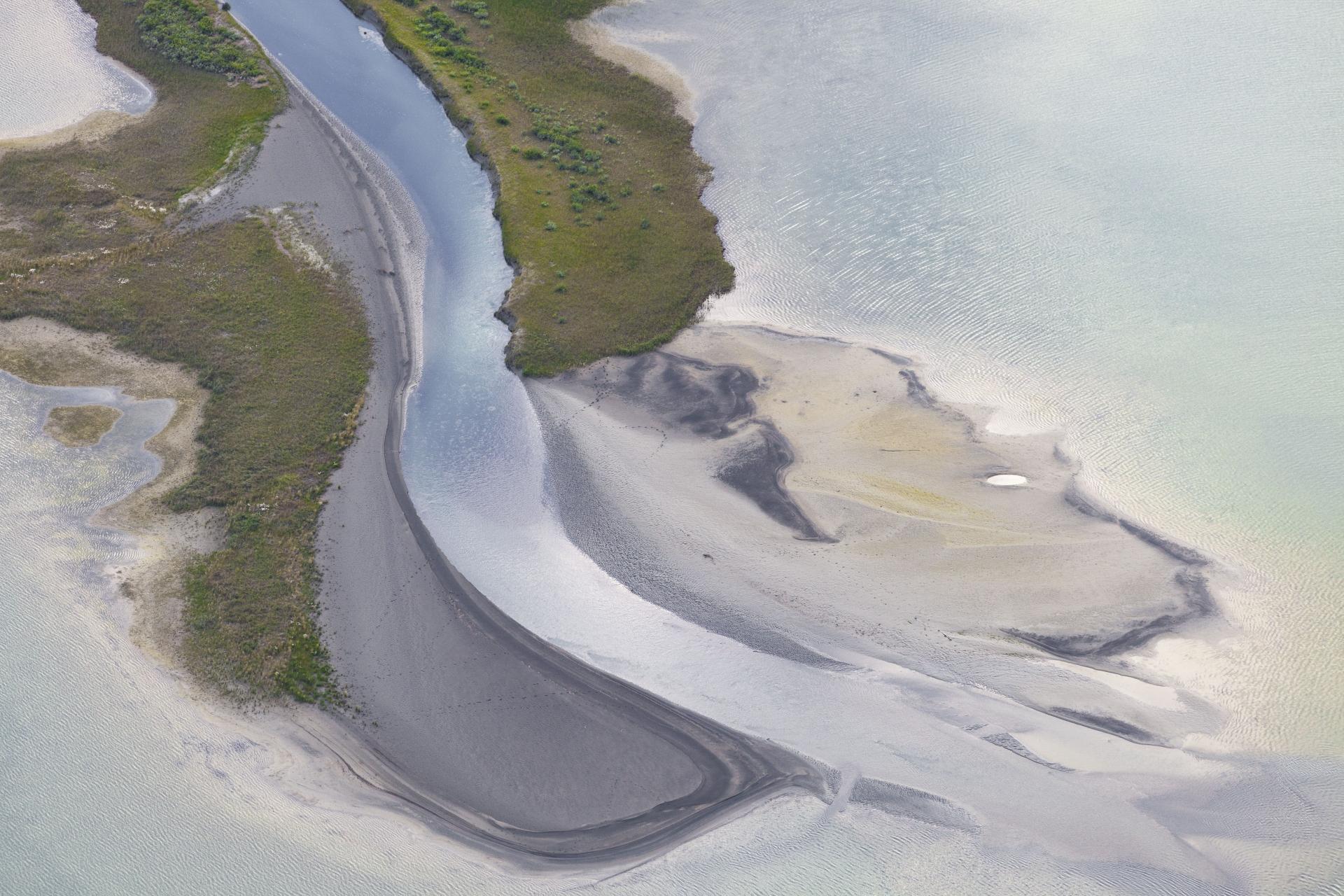 Sandbänke im Laitaure-Delta