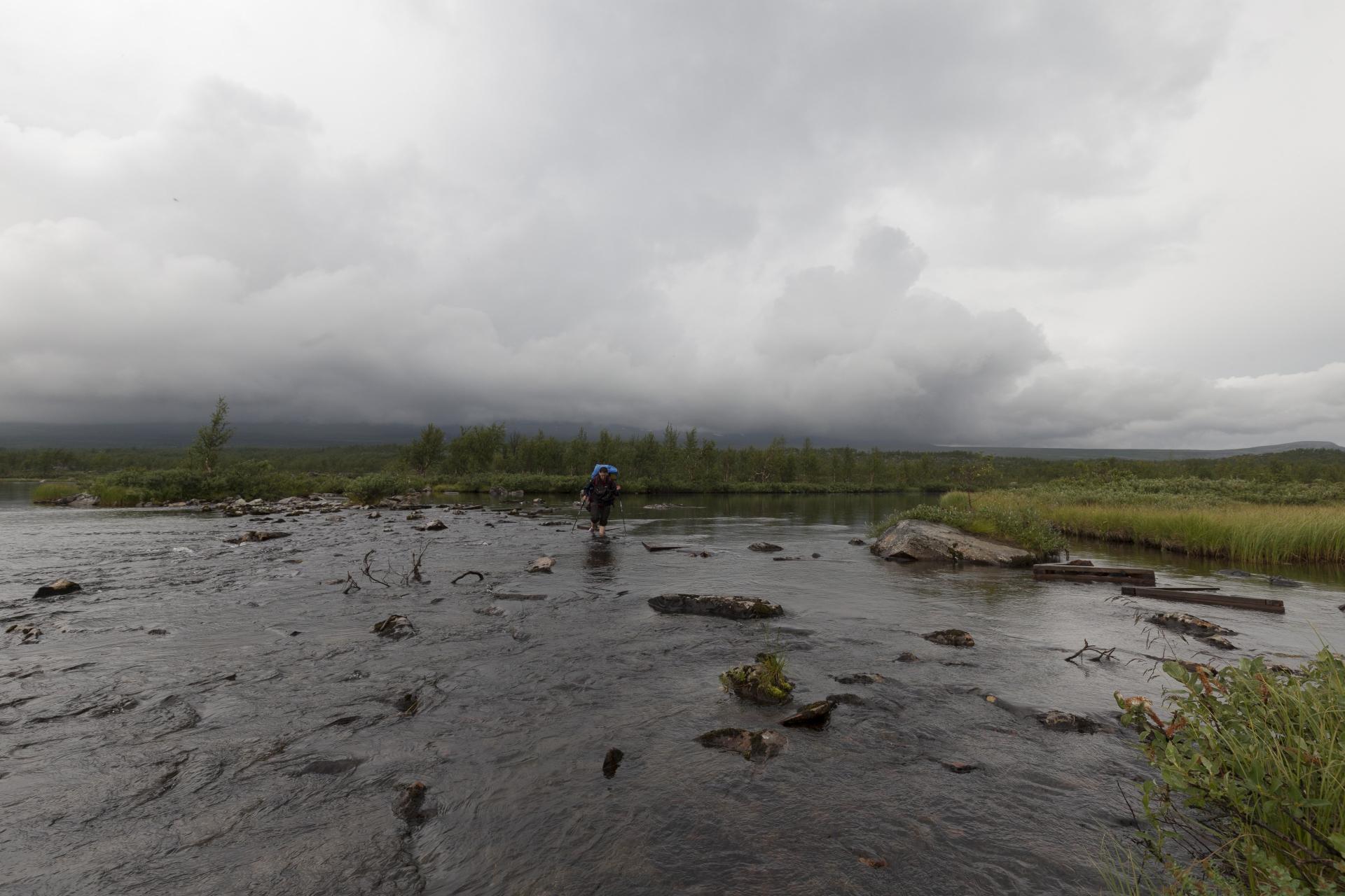 Furt  zwischen Boarekjávrre und einem weiteren See