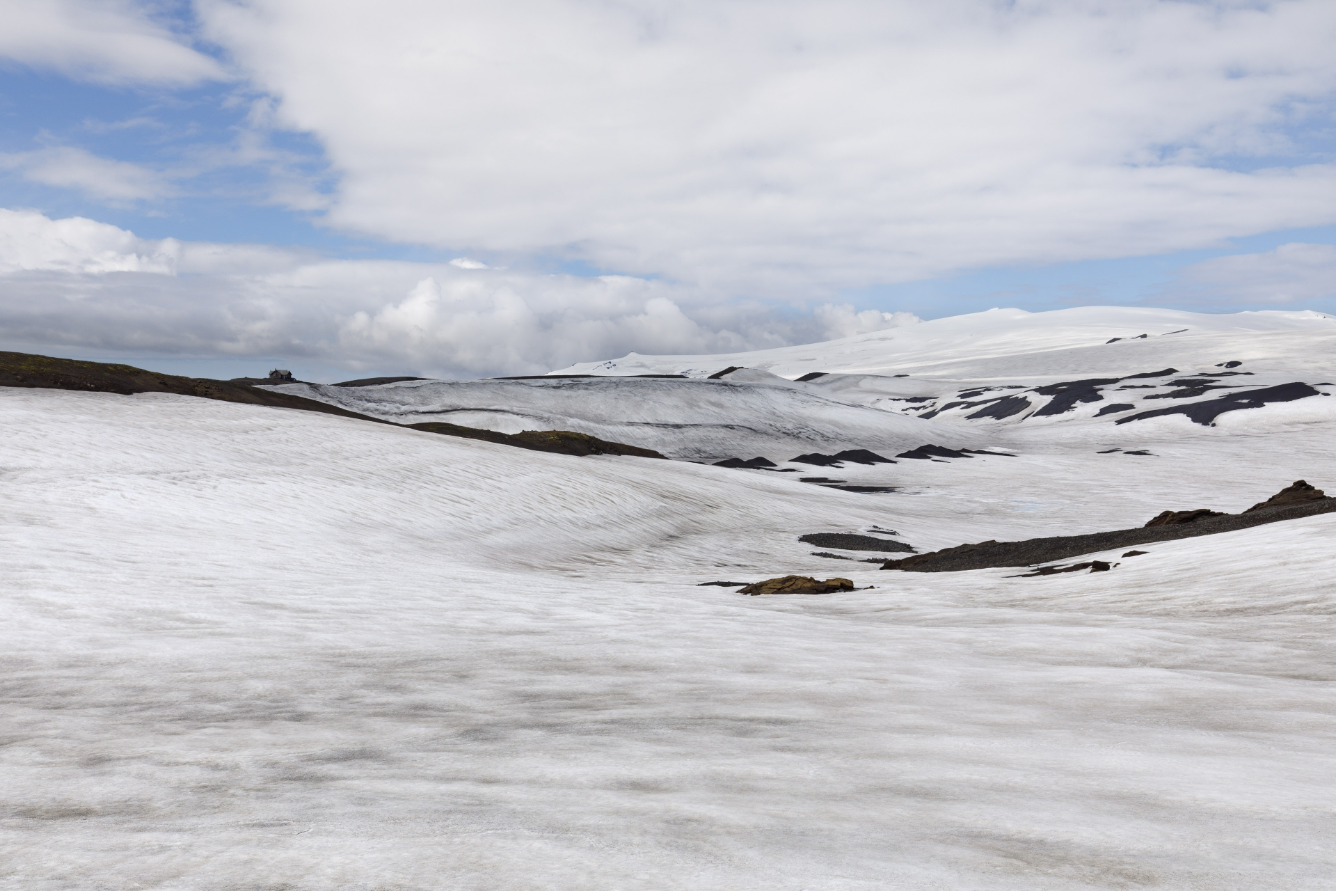 Fimmvörðuskáli und Eyjafjallajökull