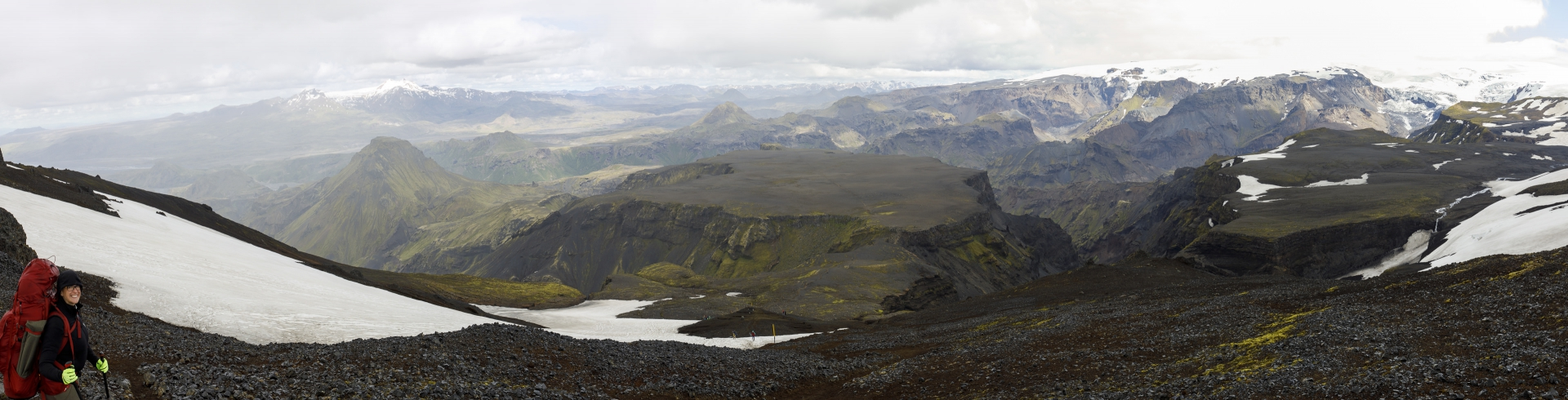 Goðaland liegt zu unseren Füßen