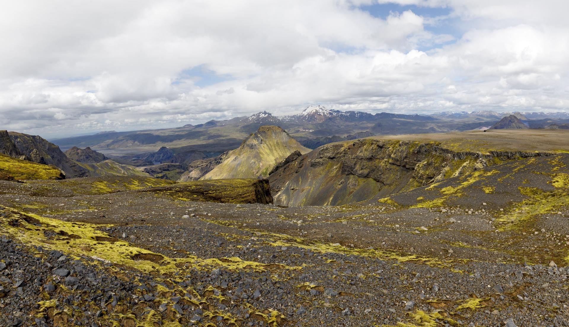 Goðaland, links im Hintergrund Markarfljót