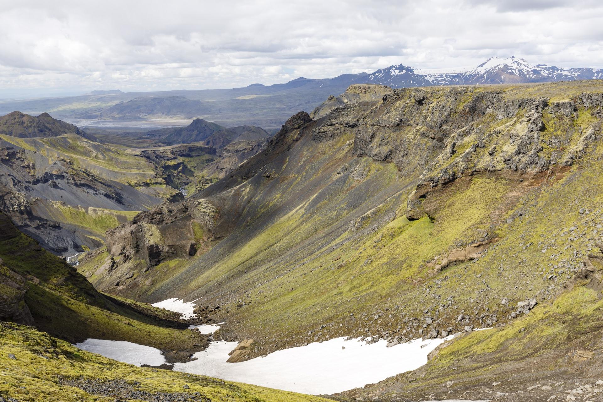 Goðaland, im Hintergrund die Krossá