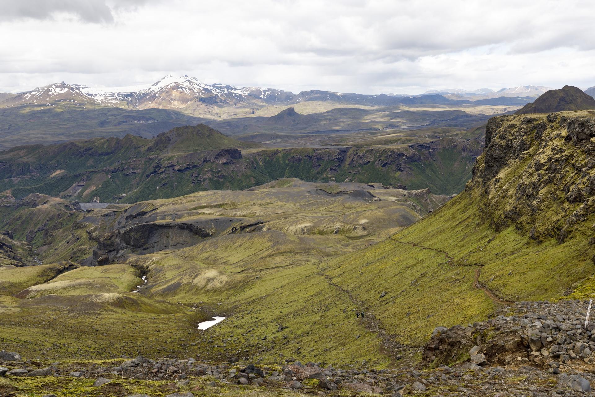 Goðaland mit Blick in die Þórsmörk