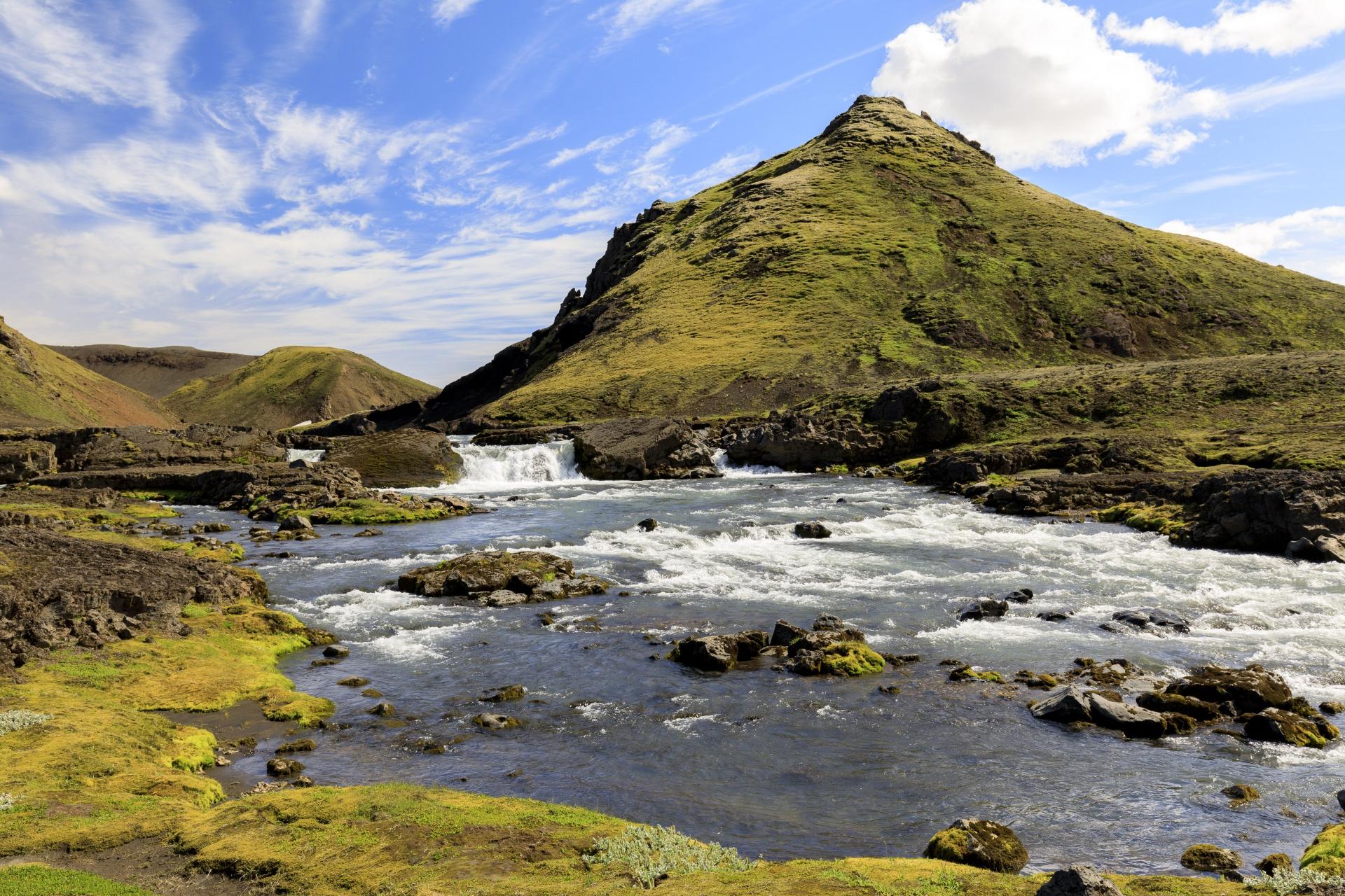 Wasserfall an der Kaldaklofskvísl
