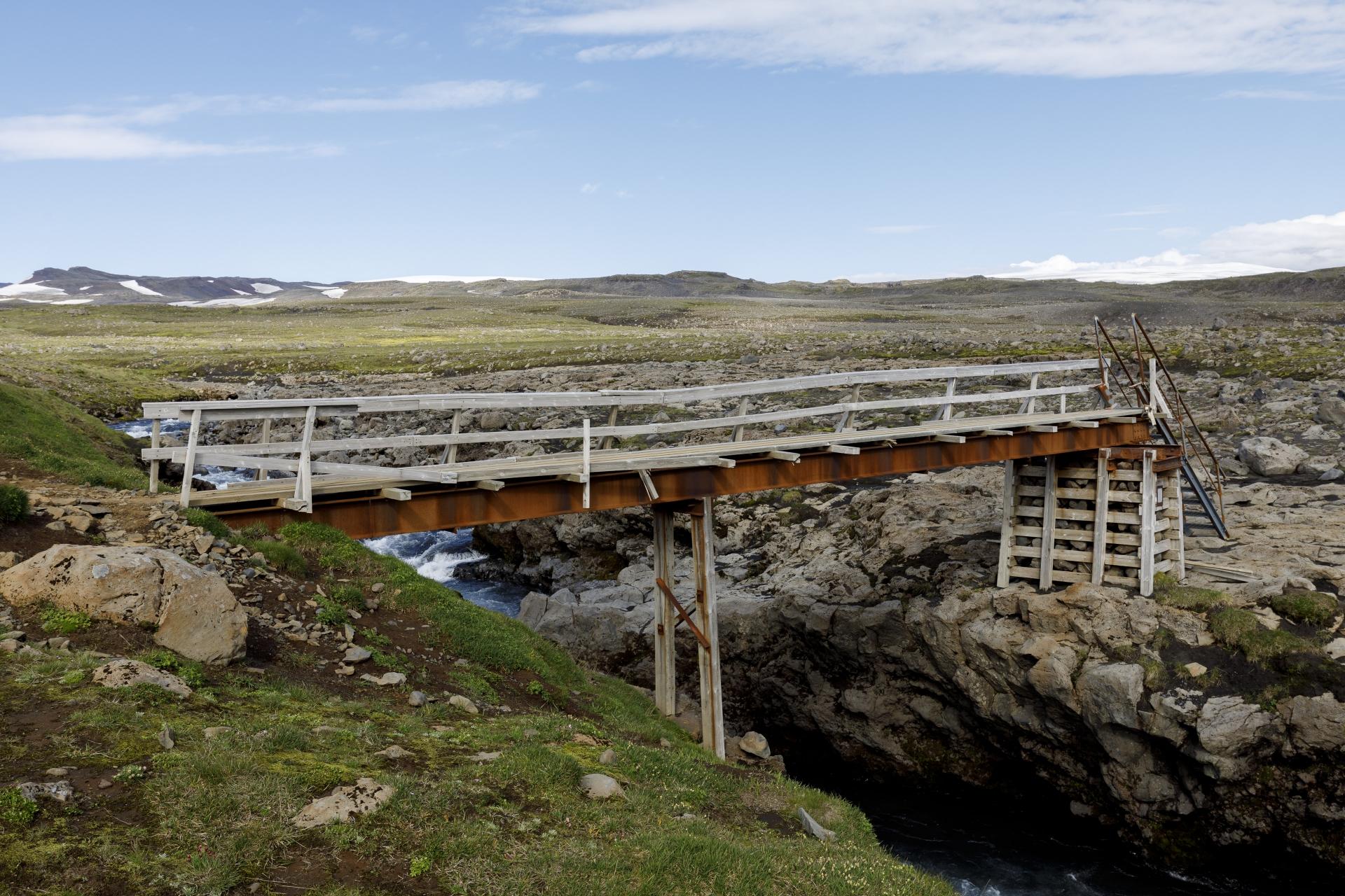 Die Brücke über die Skógá