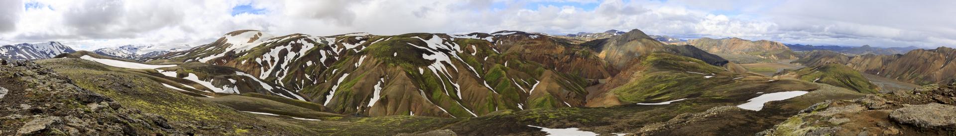 Torfajökull, Kaldaklofsjökull, Skalli, Bláhnúkur, Laugahraun, Suðurnámur, Frostastaðavatn, Jökulgil