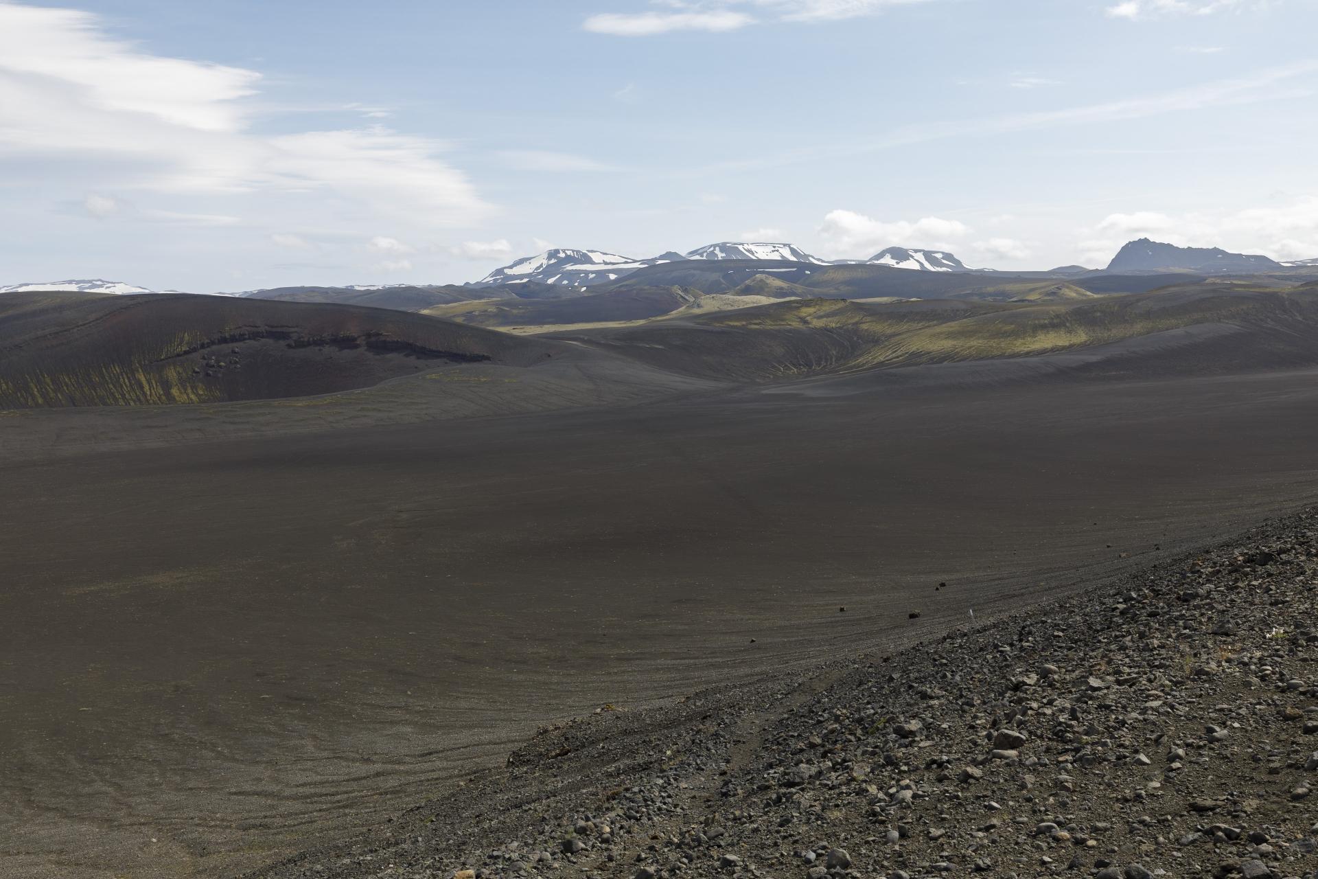Blick vom Rücken des Valanúkar zurück