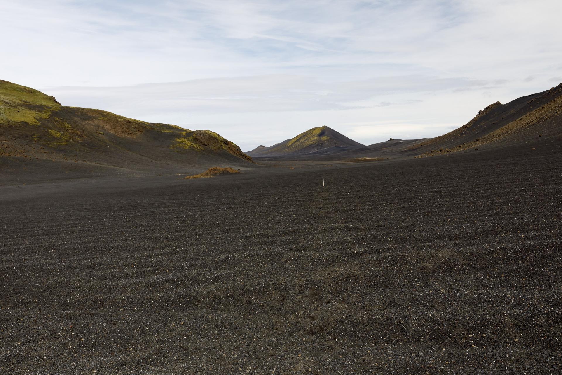 Tal zwischen Valafell und Valahnúkar (Blick zurück)
