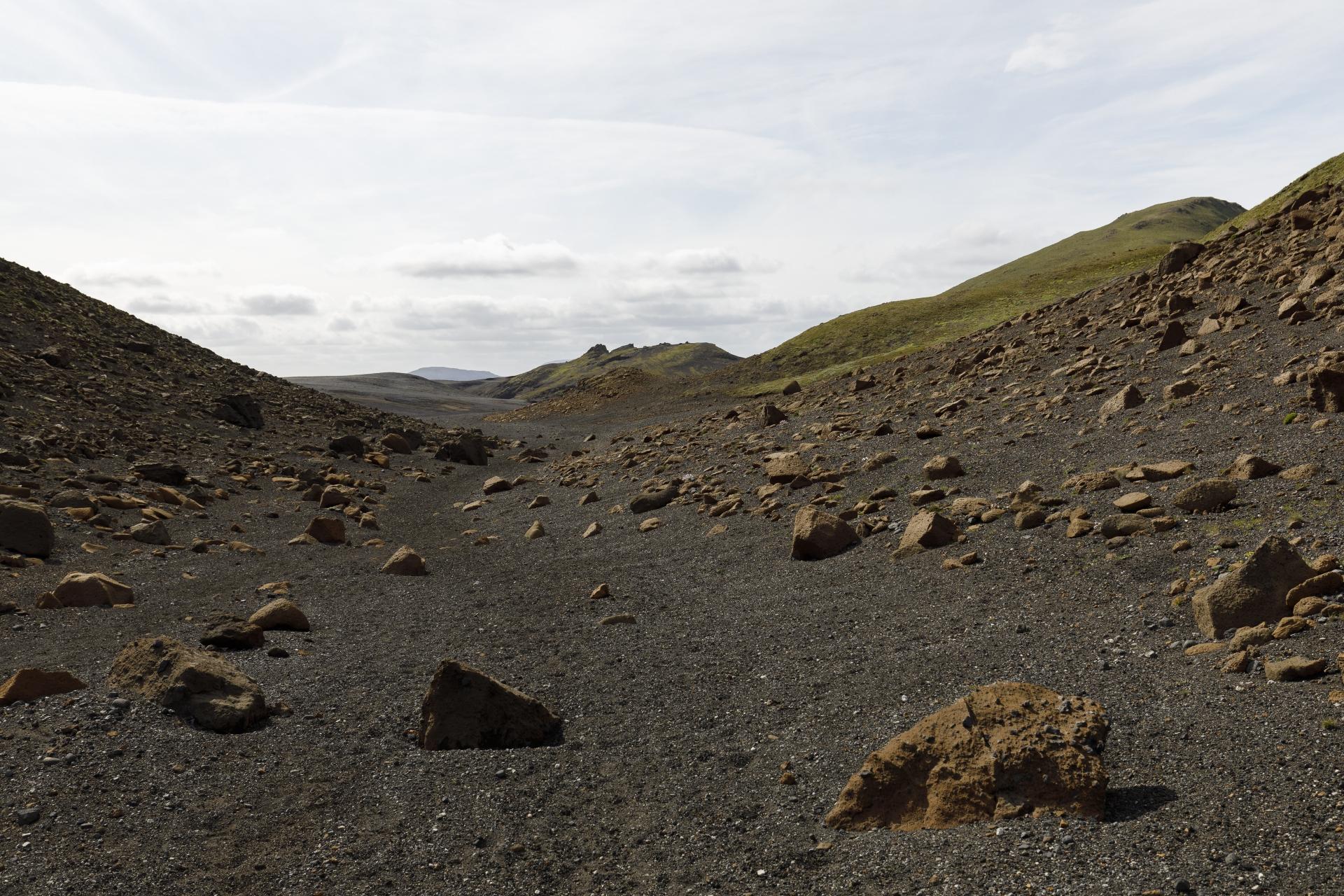 Schlucht zwischen Valafell und Valahnúkar