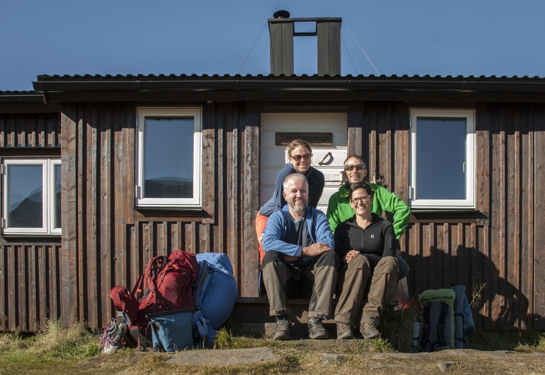 Heidi, Markus und wir zwei in Sälka