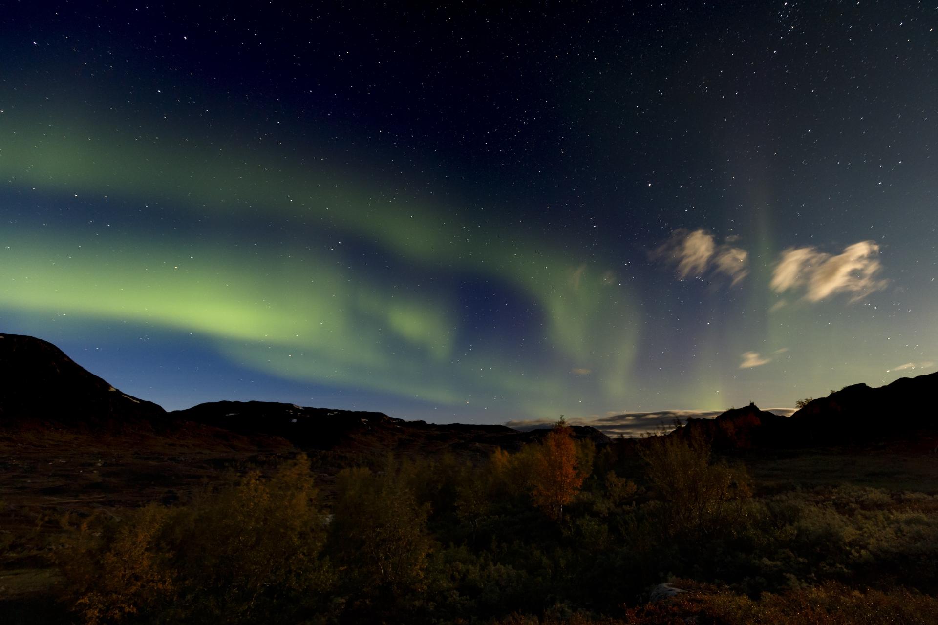 Aurora borealis in Unna Allakas