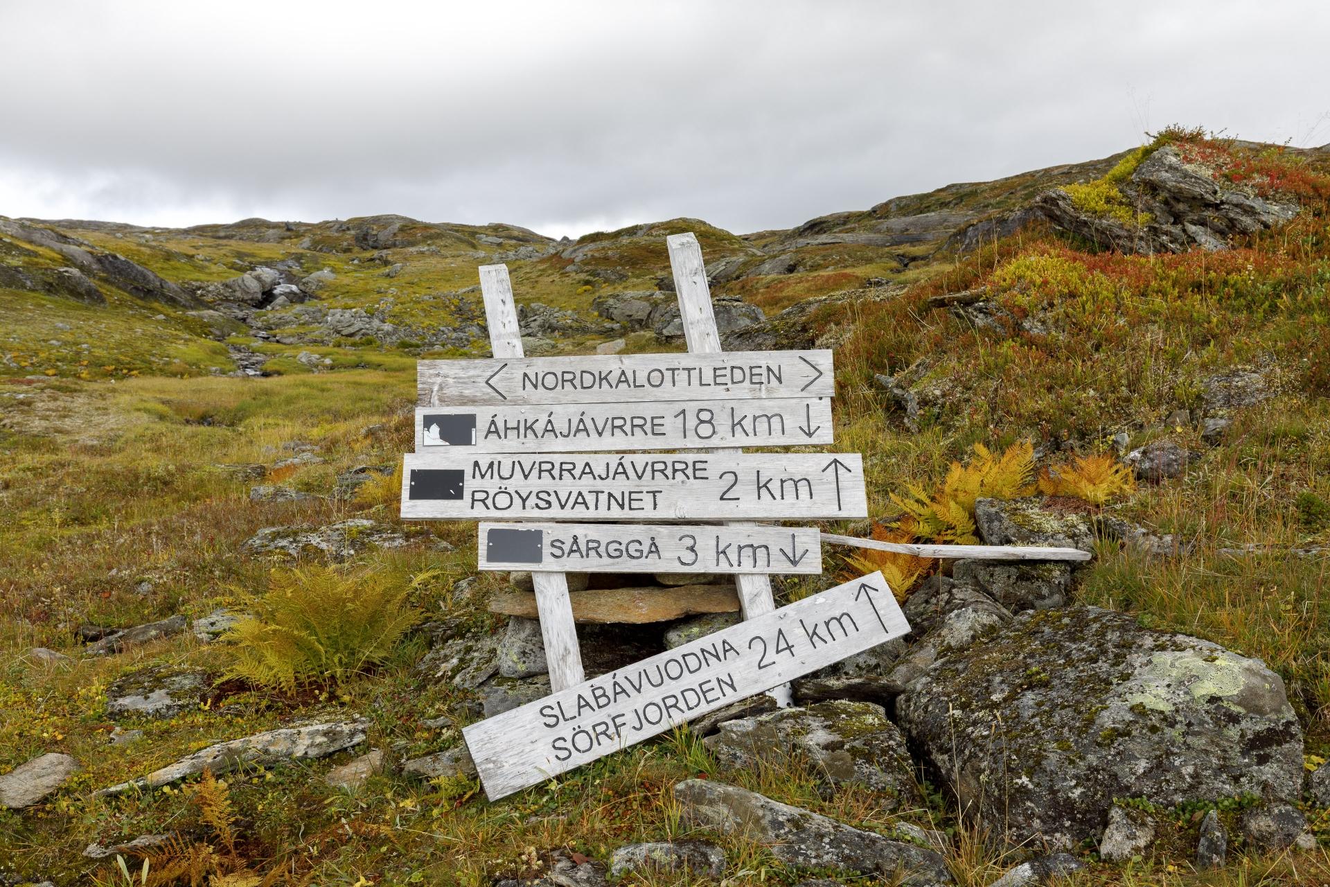 Kreuzung Gränsleden – Nordkalottleden