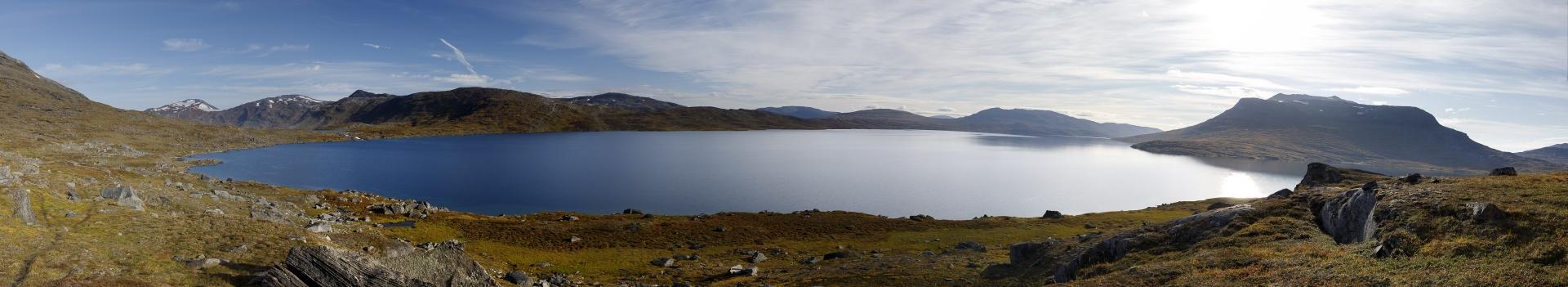 Panorama des Kåbtåjaure