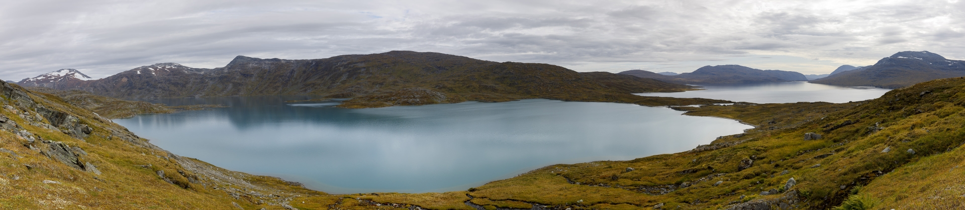 Panorama Bovrojávri und Kåbtåjaure