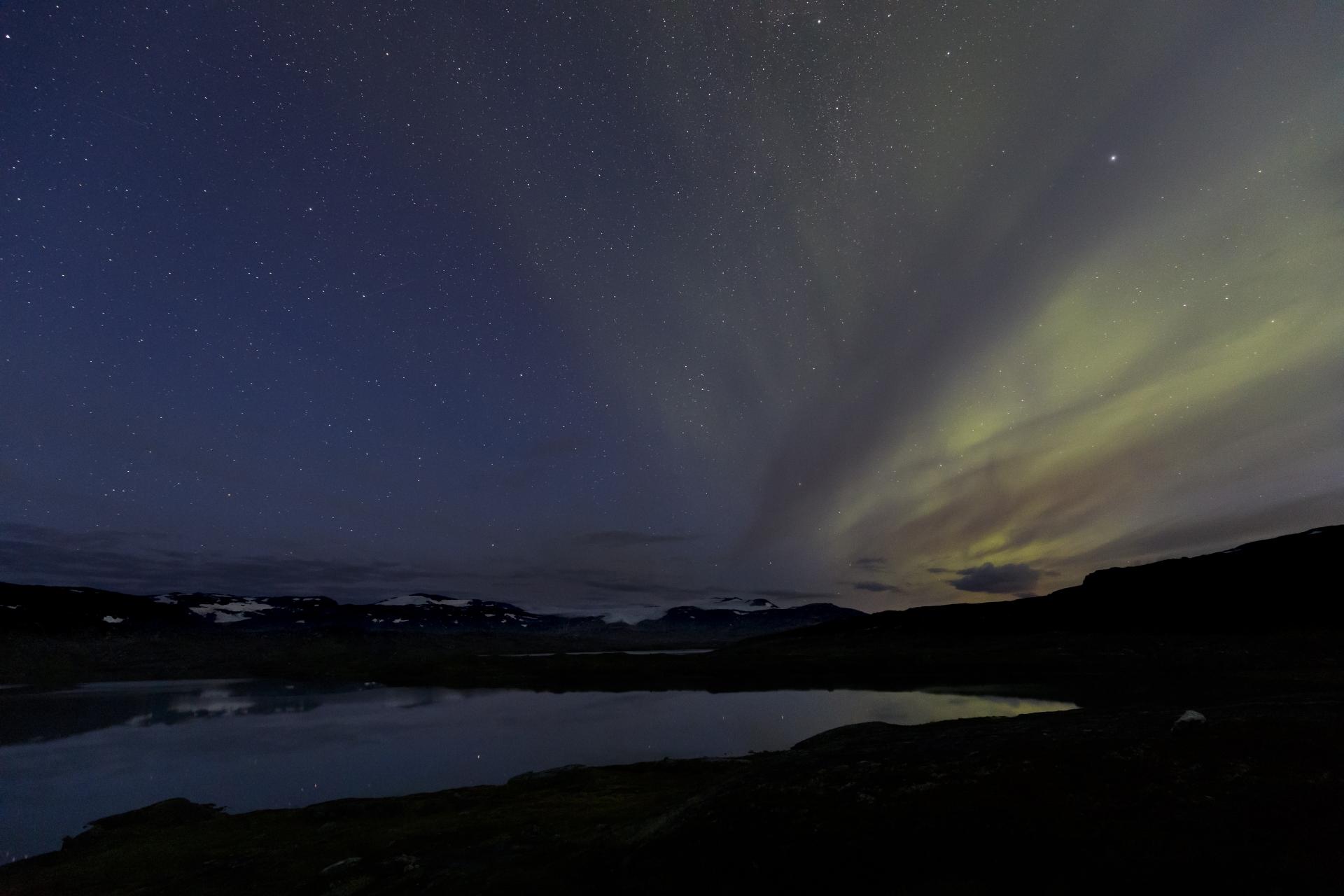 Aurora borealis in Pauro