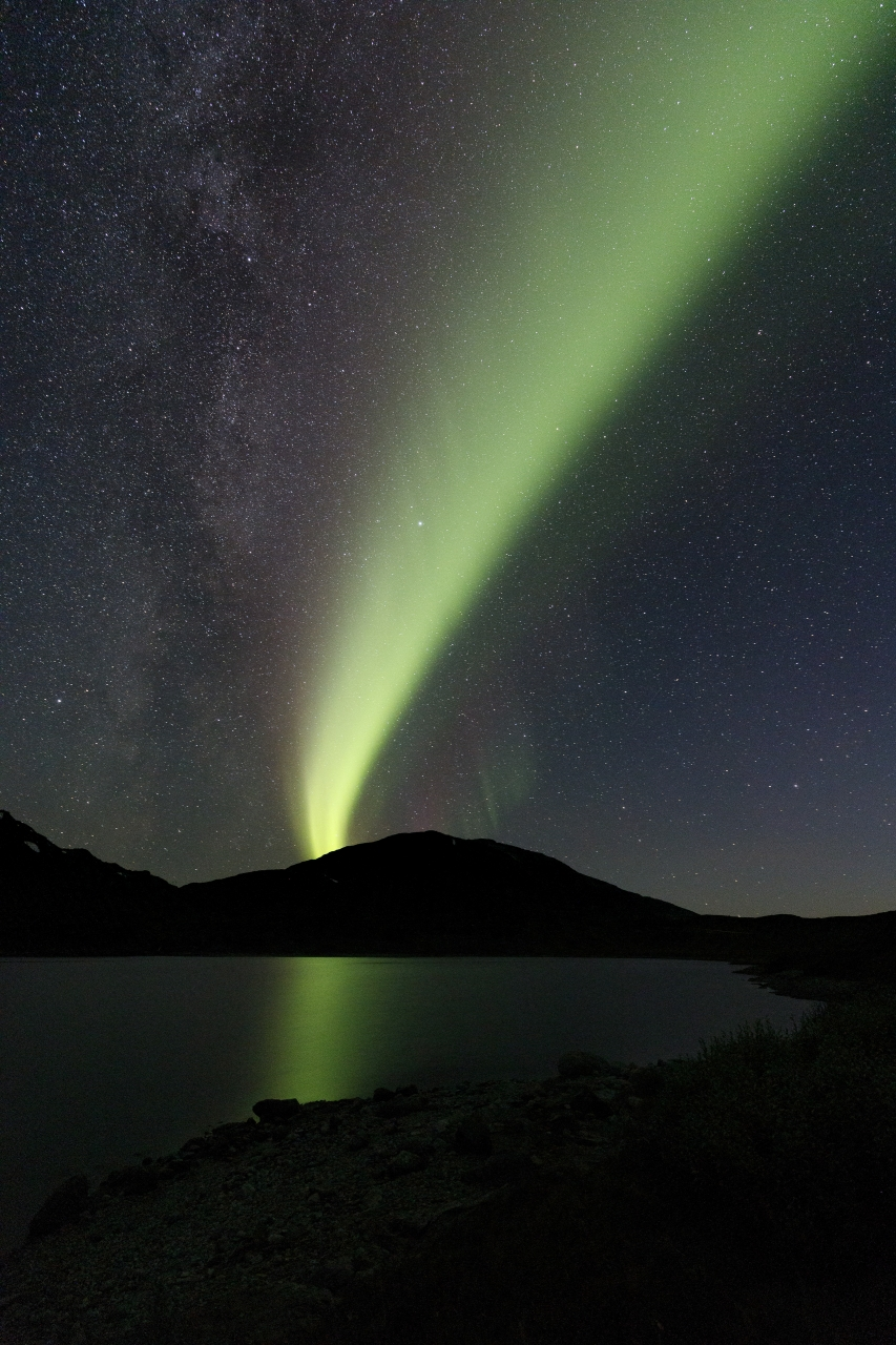 Aurora borealis in Sitas