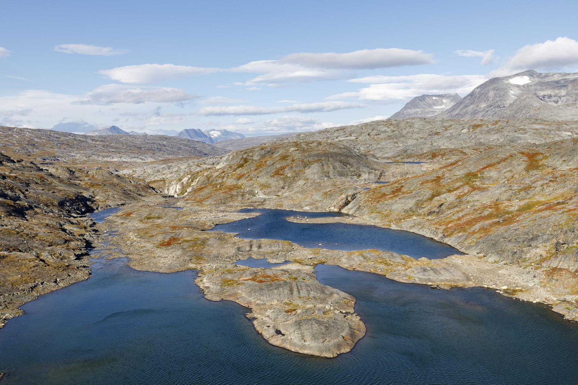Ausblick von einem kleinen Staudamm nach Westen