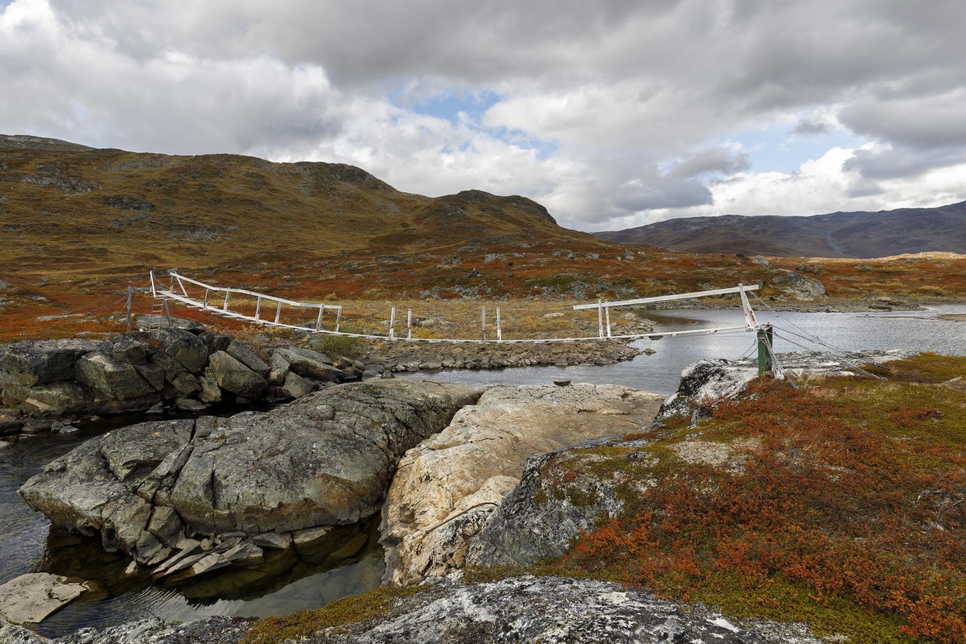 Die nächste stabile Hängebrücke norwegischer Bauart