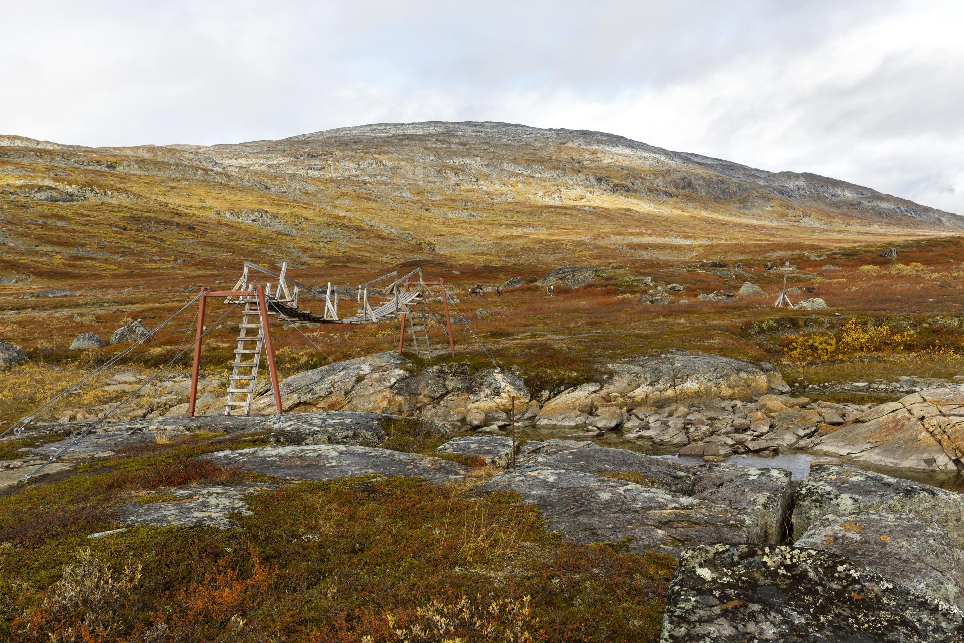 Brücke über den Sealggajohka