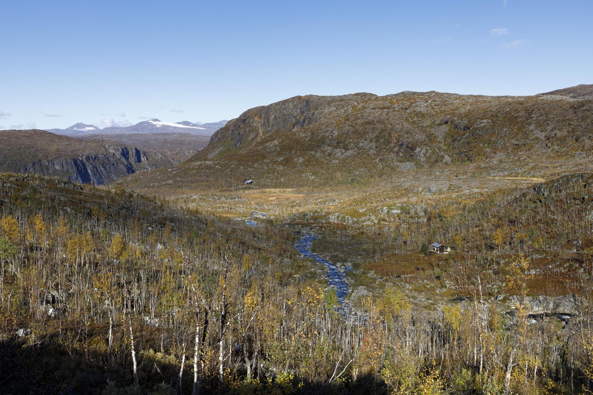 Im Sørdalen, mit ersten Blick auf die Ofotbanen